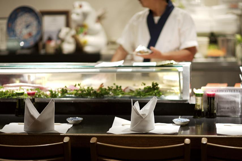 A Sushi Restaurant in Tokyo